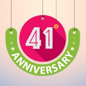 41st anniversary logo