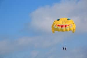 Parachuting image